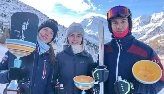 Наши сноубордисты. Италия