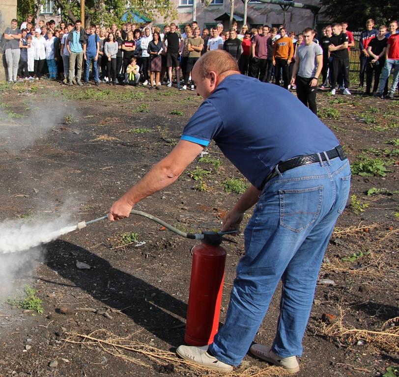 Учебная тренировка Действия при пожаре ЛК УОР